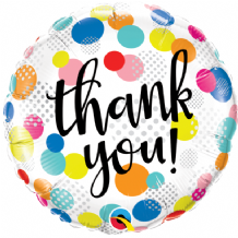 "Thank You Dots Upon Dots Foil Balloon (18"") 1pc"